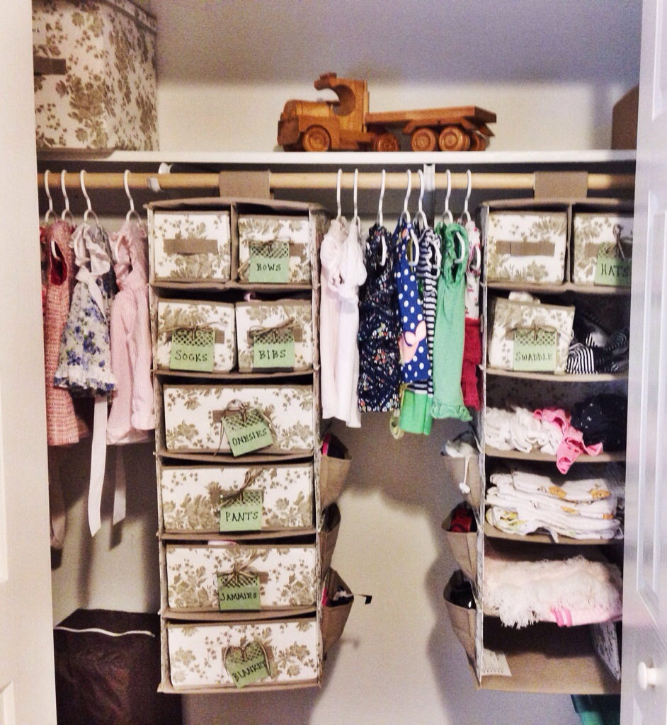Organizing tips for the nursery closet on a budget cup of tea - Small space bags ideas ...