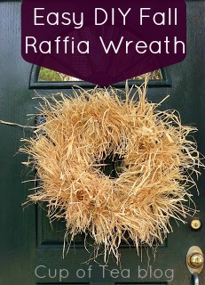 DIY Fall Raffia Wreath | Cup of Tea