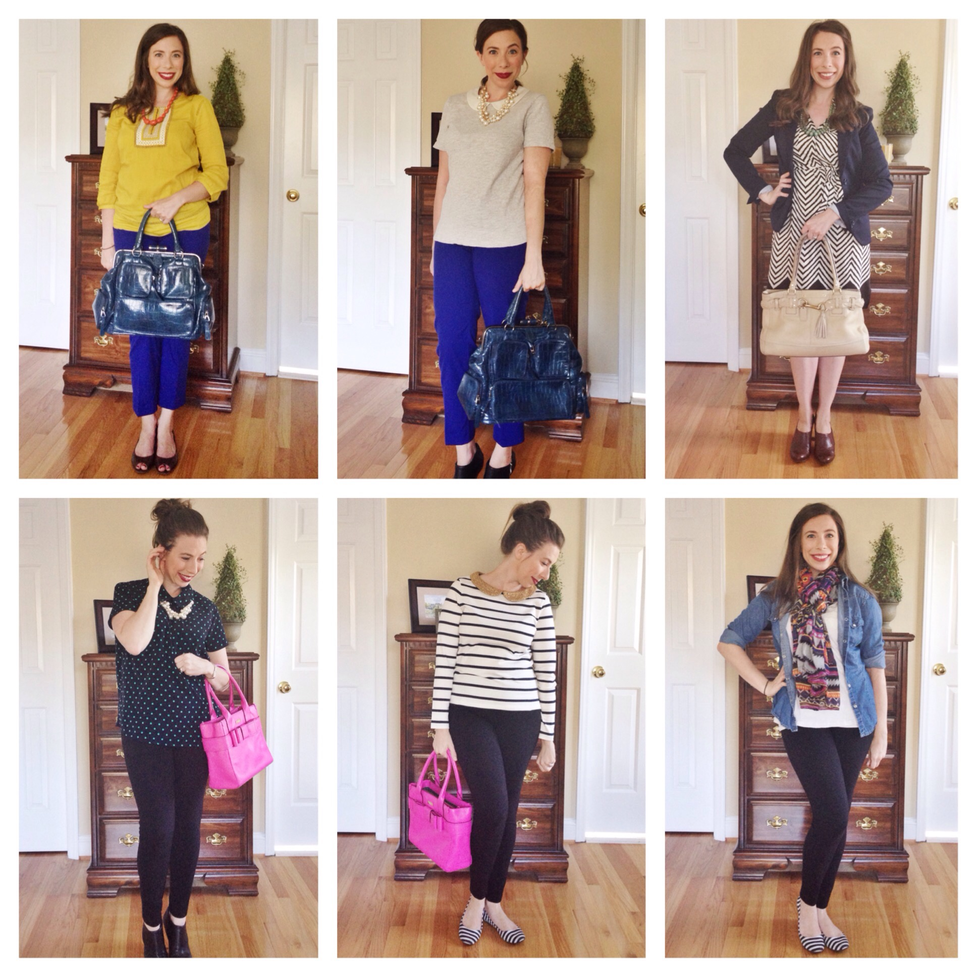 Recap of first 6 outfits in 30 Outfits 30 Days Challenge on Cup of Tea