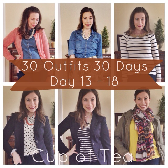 30 Outfits in 30 Days Outfits 13-18 on Cup of Tea