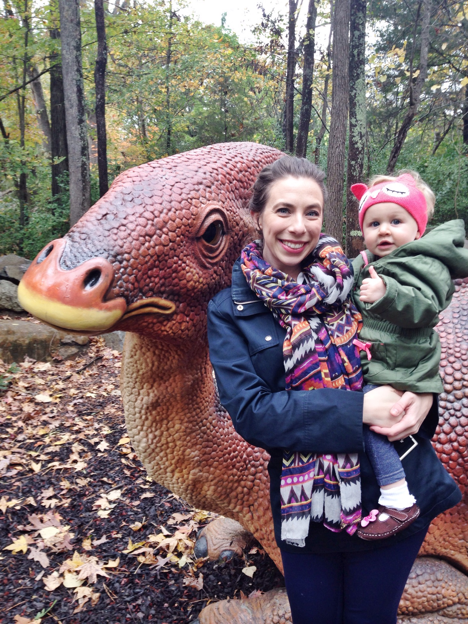 Meeting dinosaurs at the Durham Life & Science