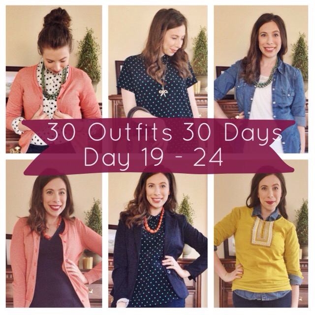 30 Outfits 30 Days Style Challenge - Day 19-24 on Cup of Tea