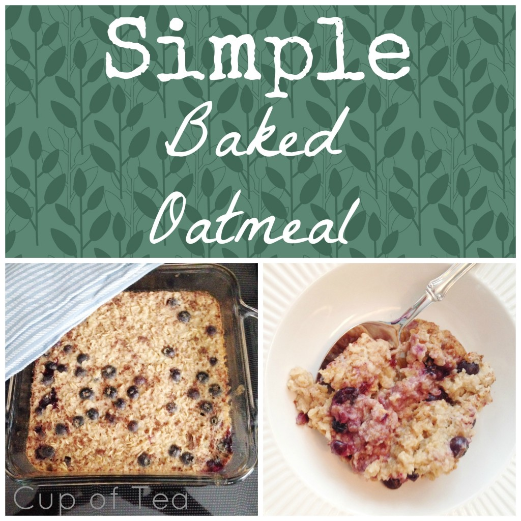 Simple Baked Oatmeal - Easy to make for a few or a crowd!