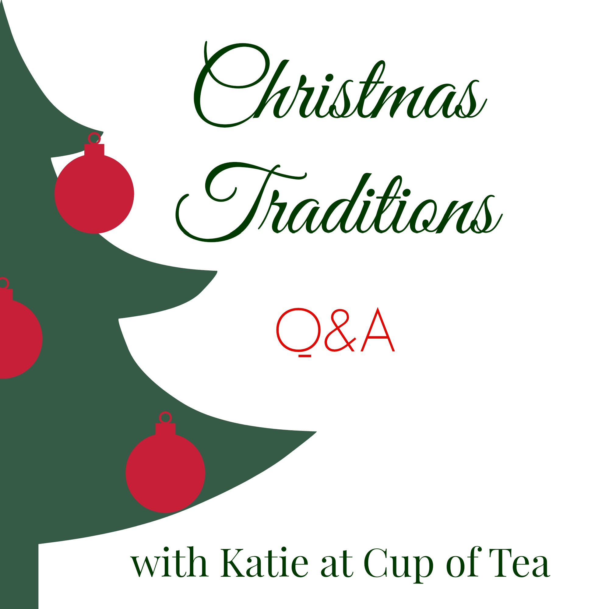 Christmas Traditions with the Cup of Tea blog