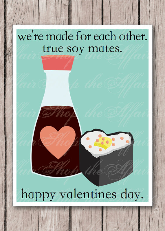 Coffee Soy Valentines from Etsy