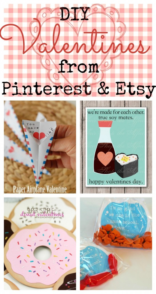 14 Fun DIY Valentines found on Pinterest and Etsy | from Cup of Tea