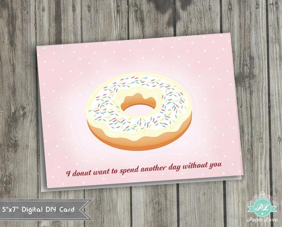 Donut Valentines from Etsy