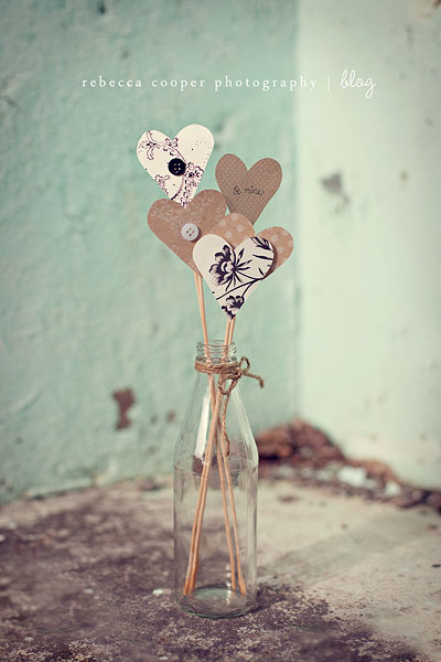 Heart Cutouts on a Stick
