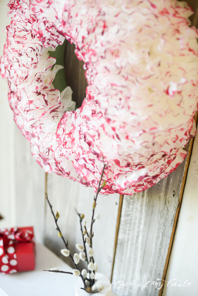 Coffee Paper Valentine Wreath from Place of My Taste