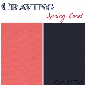 Coral and Navy inspiration for Spring from Cup of Tea blog