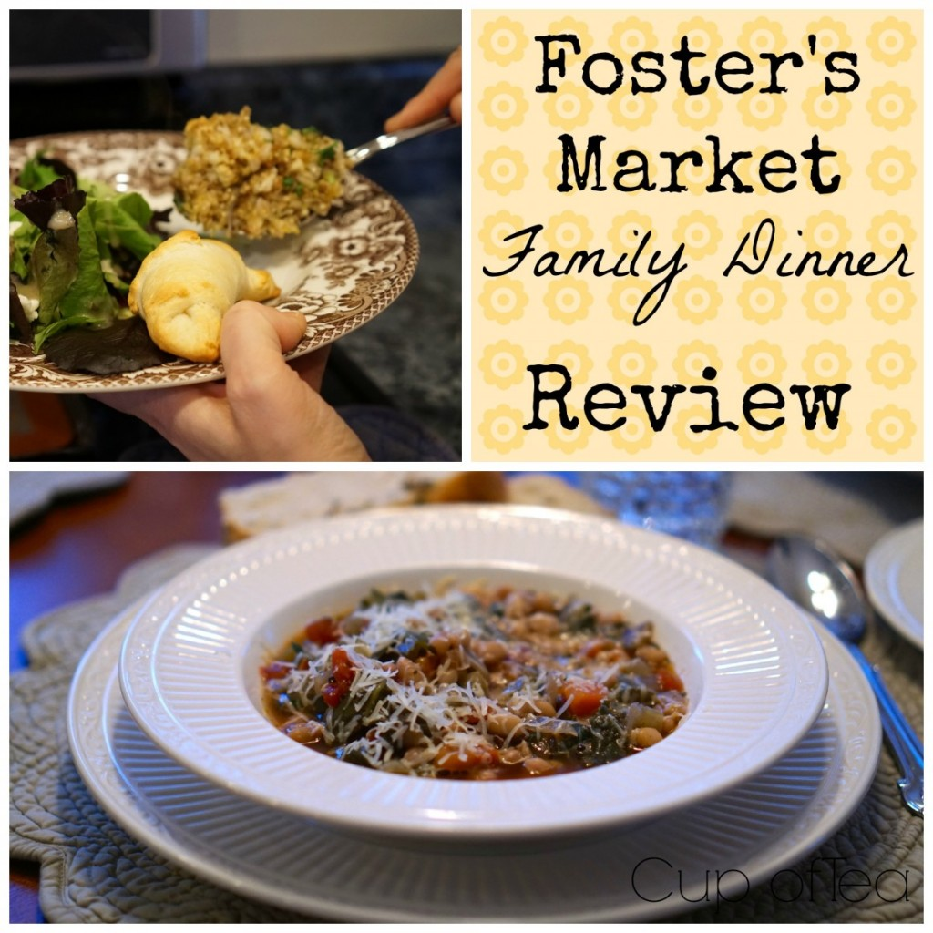 Review of Foster's Market Family Dinners on Cup of Tea blog