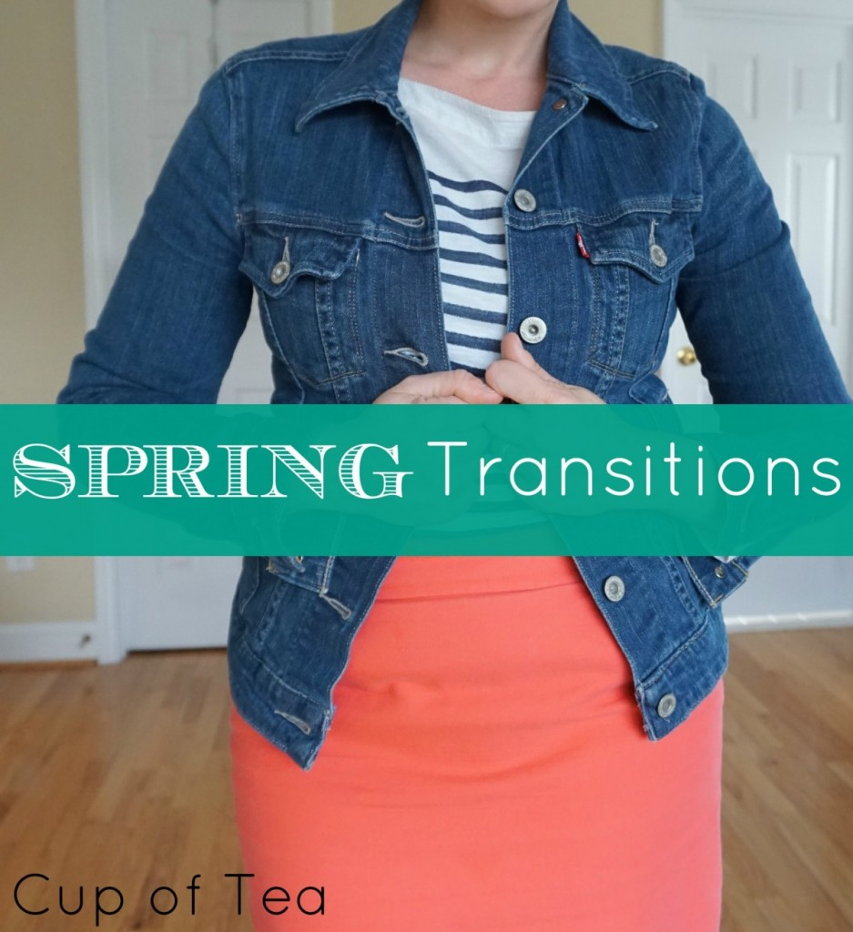 A few ways to transition your winter wardrobe to a fun, bright spring wardrobe