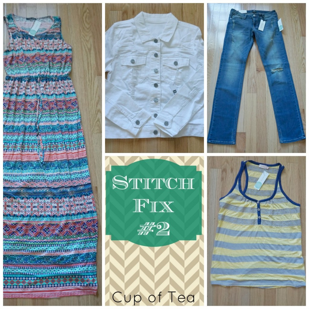 Showing what a typical Stitch Fix box contains, as well as prices for each item