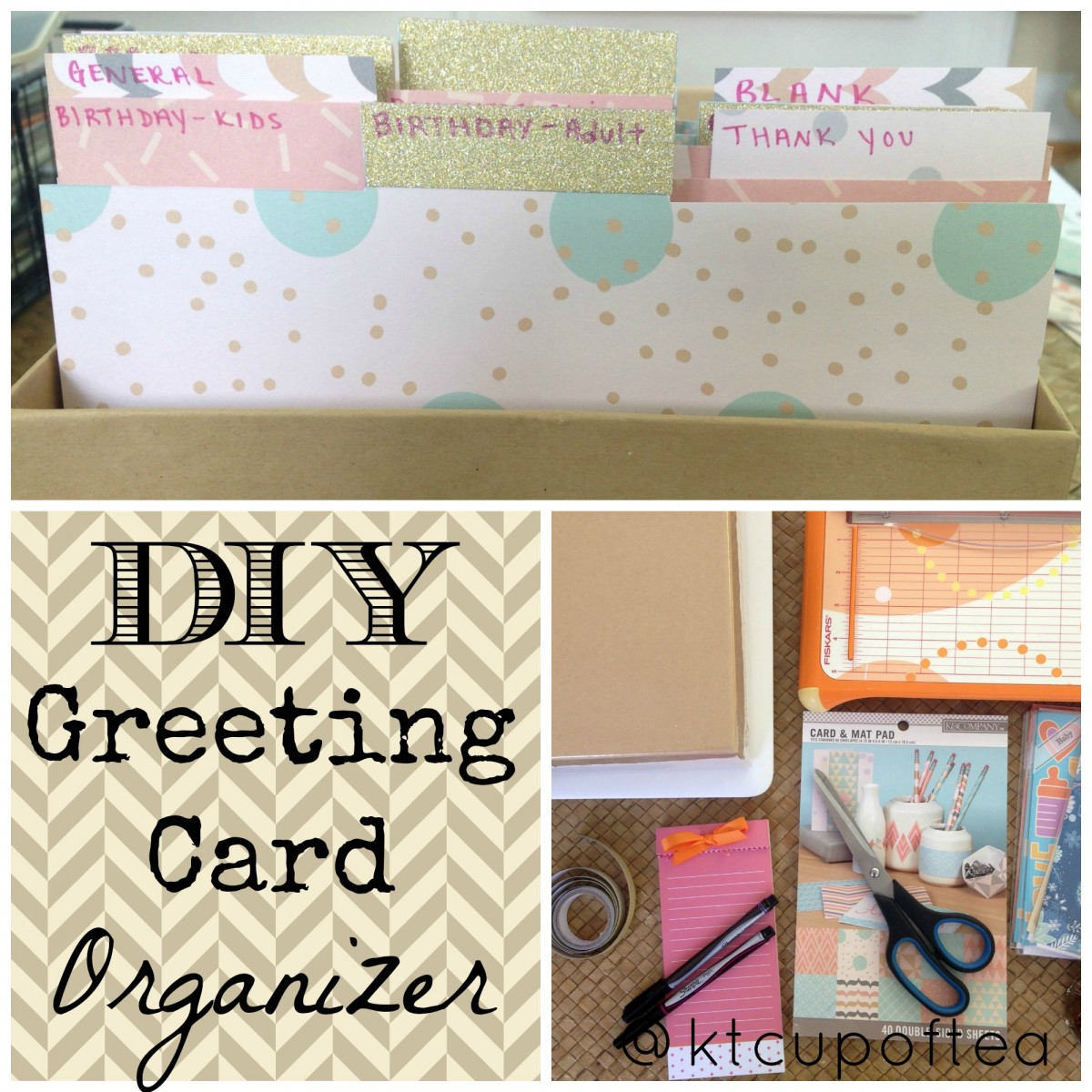 Diy greeting card organizer cup of tea an easy diy greeting card organizer that you can quickly make in 30 minutes m4hsunfo