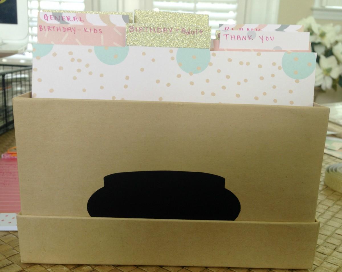 how to make organizer box