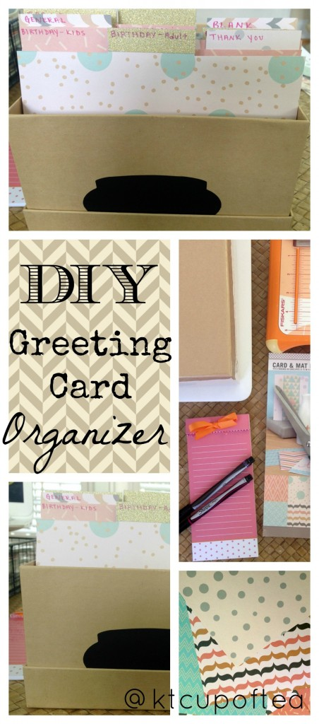 An easy DIY Greeting Card organizer that you can quickly make in 30 minutes!