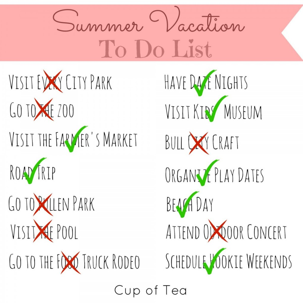 Summer to Do List Wrap Up