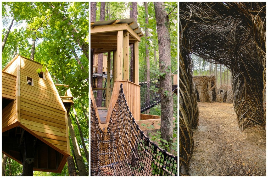 Durham's Museum of Life & Science has a new outdoor exhibit - Hideaway Woods - and it's FANTASTIC!