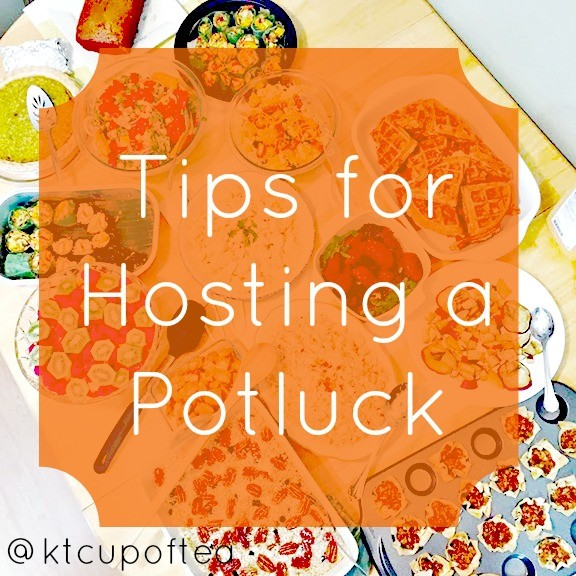 Great tips for how to host a potluck, from invites to how to plan who brings what food.