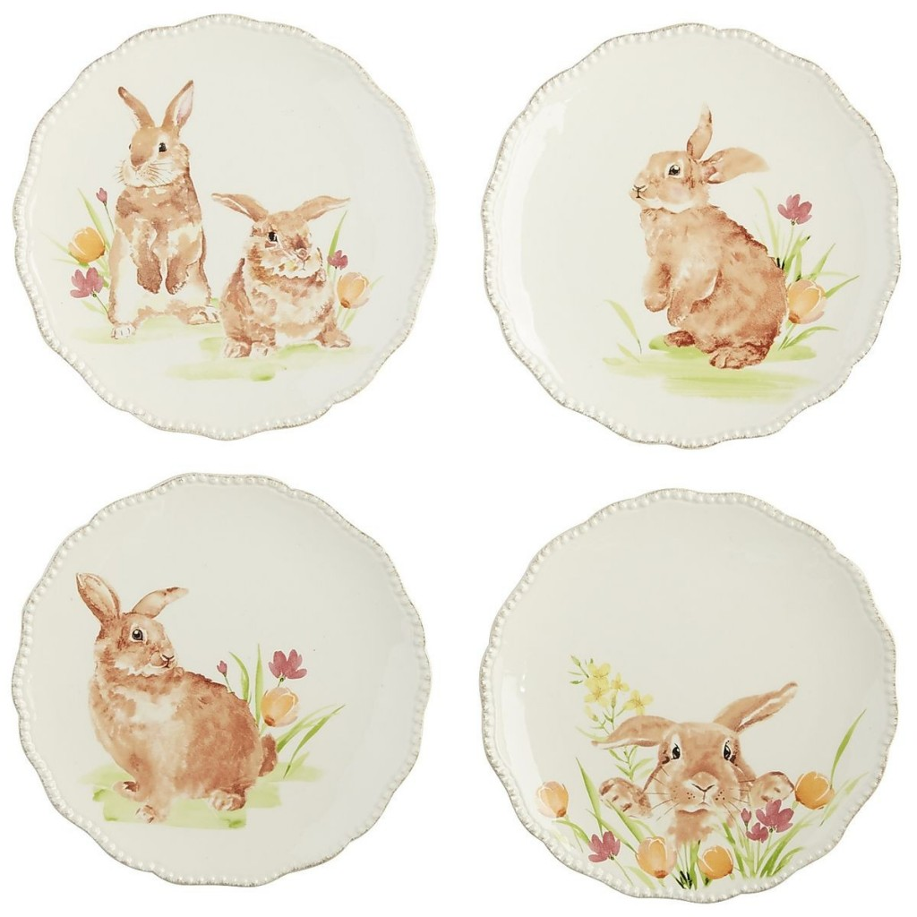 Adorable Easter bunny plates from Pier One