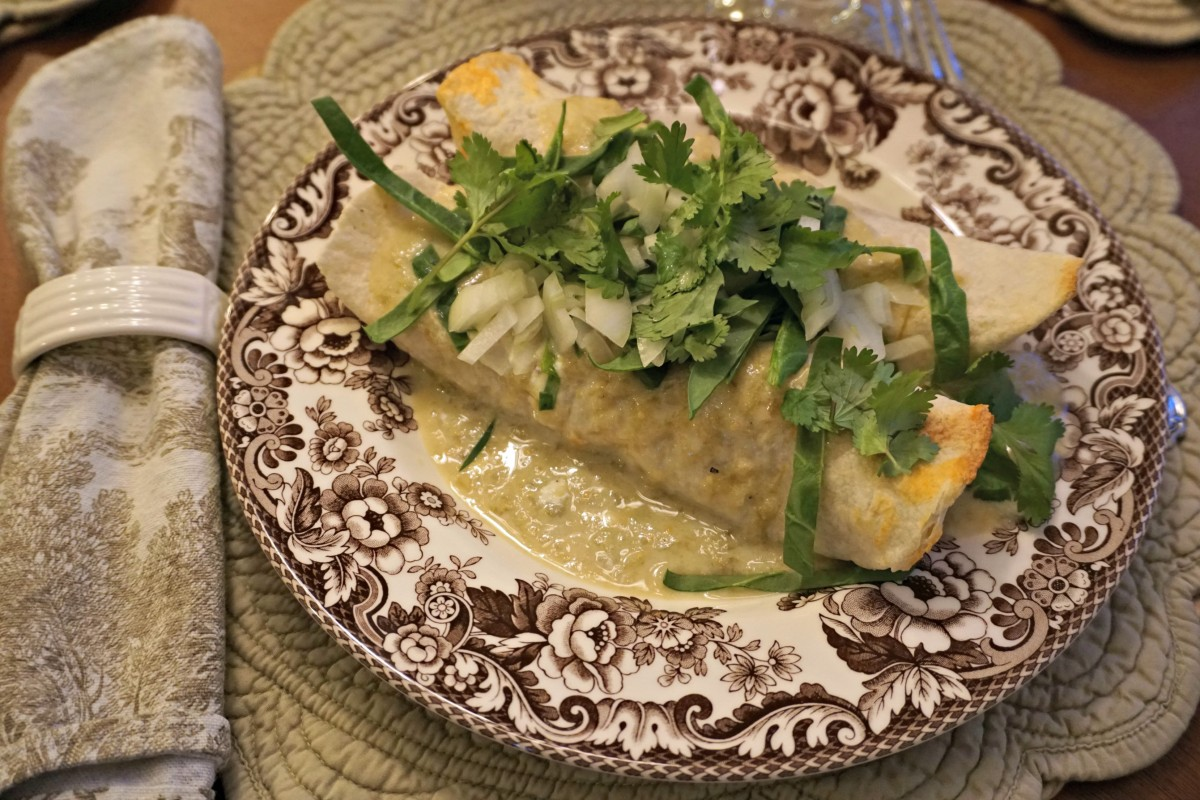Sweet Potato Burrito Smothered in Avocado Salsa Verde from Cookie and ...