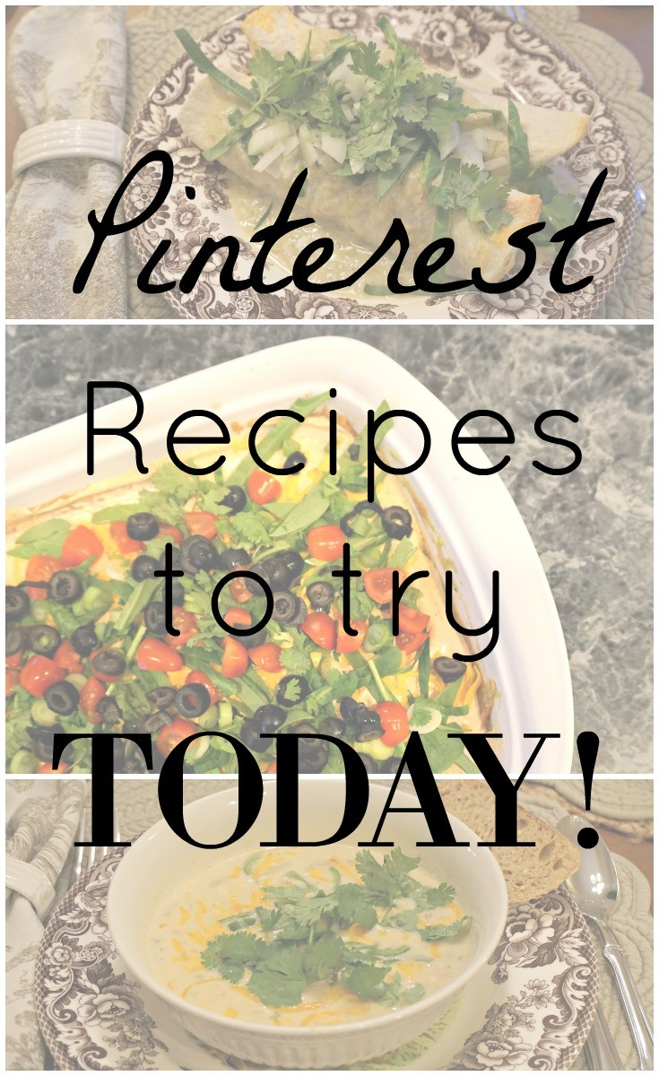 Some favorite recipes found on Pinterest that you HAVE to try today!