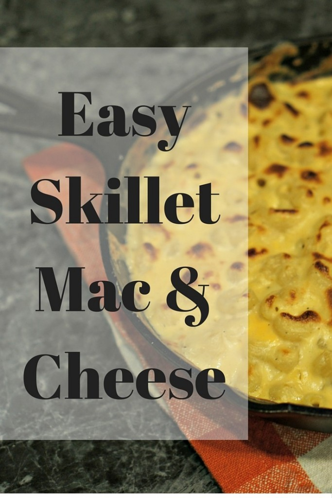 An easy skillet mac & cheese. This one is easy to change up, too.