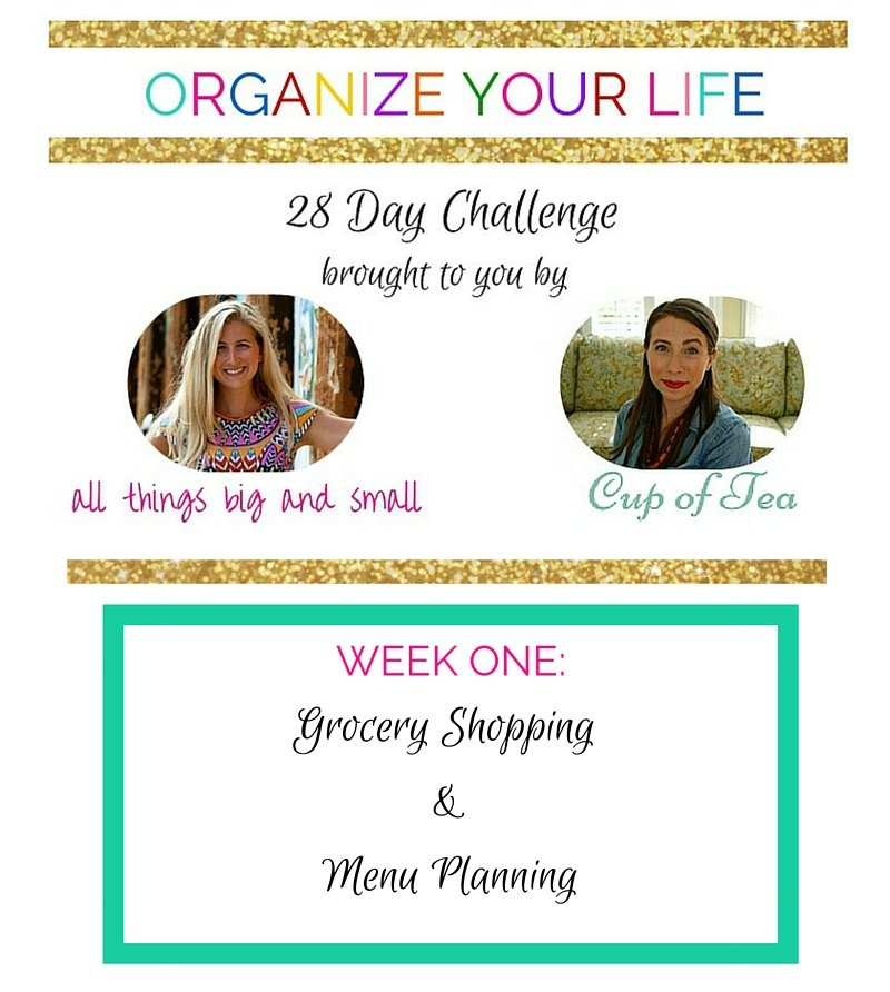 Organize Your Life series with Cup of Tea and All Things Big & Small!