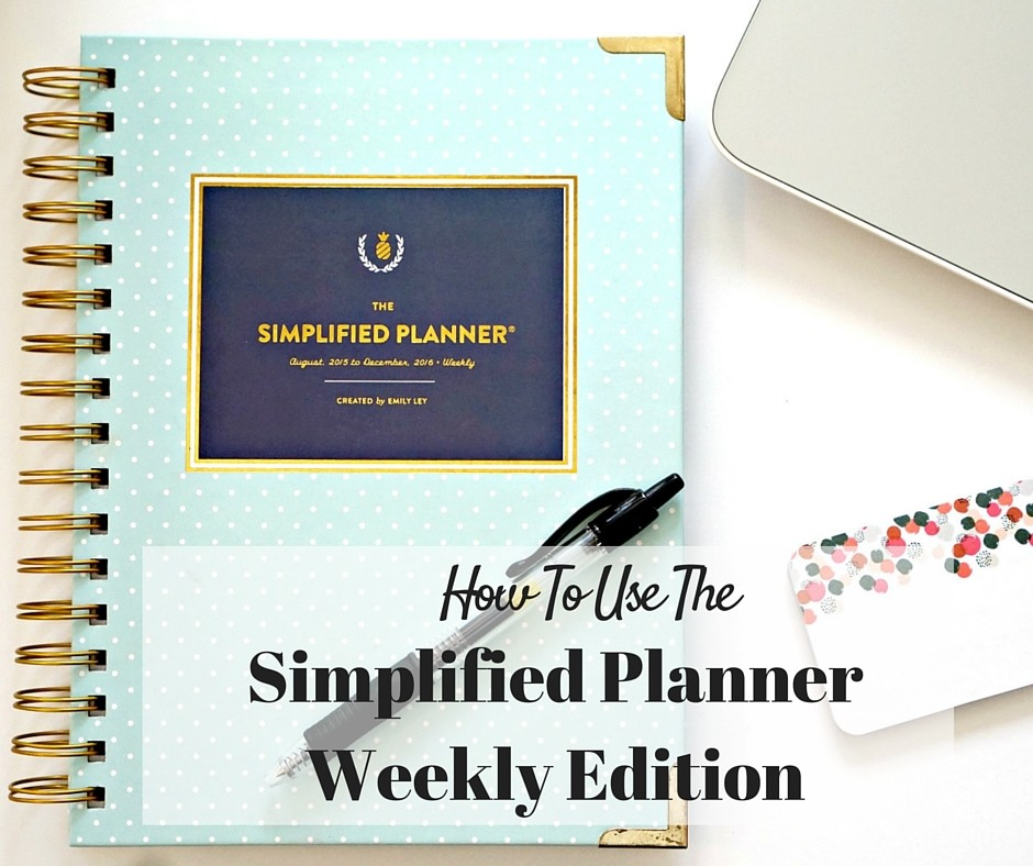 image about Simplified Planner called Having the Simplified Planner Month-to-month, Weekly Day-to-day