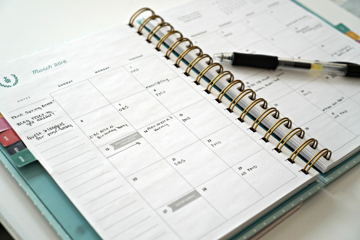 weekly monthly planners