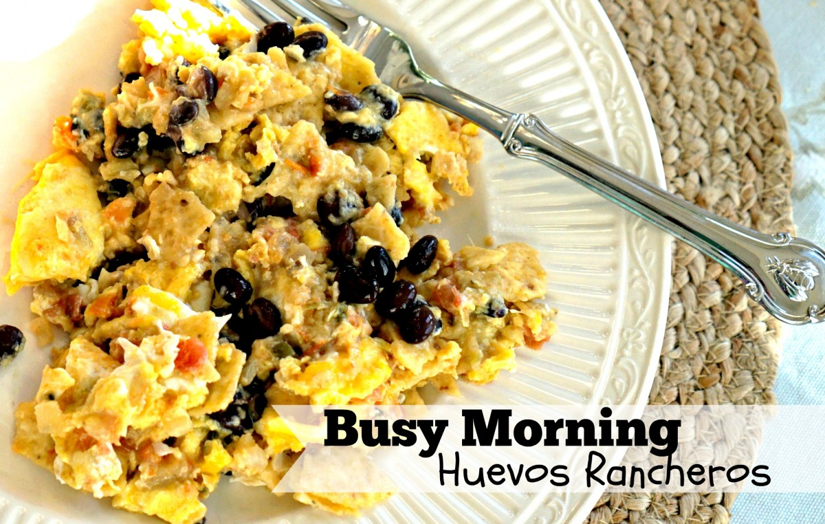 A quick, simple recipe for Huevos Rancheros. Perfect for a busy morning!