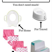 You don't need much to start potty training! Here are things we actually used and still use.