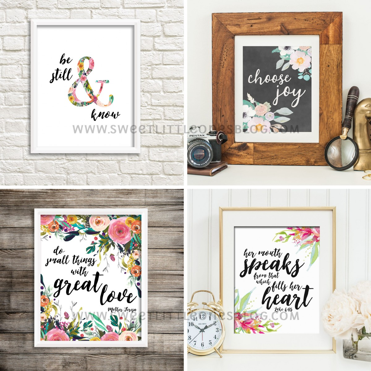Beautiful printables from Sweet Little Ones Etsy shop!