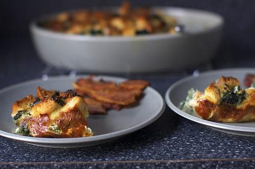 Spinach & Egg Strata from Smitten Kitchen