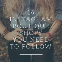 Instagram boutique shops