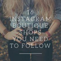 Instagram boutique shops