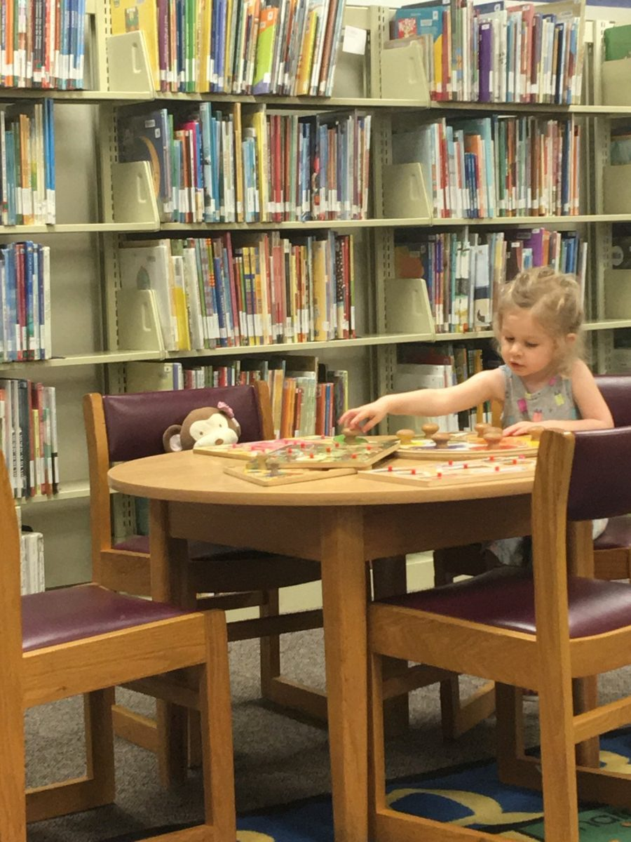 A summer puppet show at the local library!
