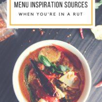 The best menu inspiration sources