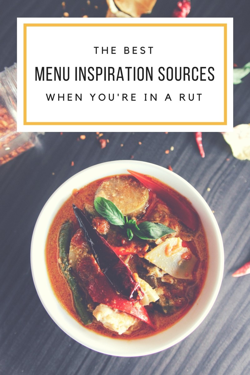 The best menu inspiration sources